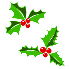 Christmas Holly scrapbook cut file cute clipart files for