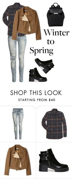 """Winter to Spring"" by anna-stifler ❤ liked on Polyvore featuring H&M, Madewell, Carven and Alexander Wang"