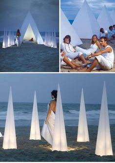 The Piramide Portable Outdoor Lighting and the Sahara Planters by Gandia Blasco