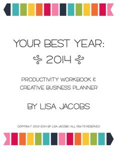 Your Best Year Creative Business Planner by Lisa Jacobs