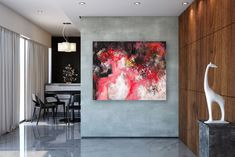 Items similar to Large Modern Wall Art Painting,Large Abstract Painting on Canvas,texture painting,gold canvas painting,gallery wall art on Etsy Large Abstract Wall Art, Large Painting, Abstract Canvas, Abstract Paintings, Canvas Art, Texture Art, Texture Painting, Painting Bathroom Walls, Bedroom Paintings