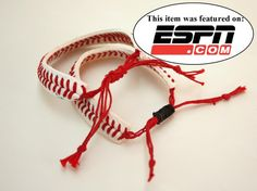 THE ORIGINAL Baseball Bracelet  sliding knot by ByStudio13 on Etsy, $7.00