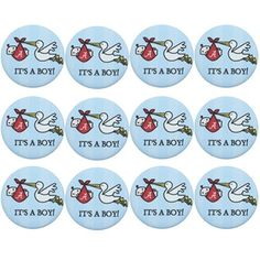 Alabama Crimson Tide 12-Pack It's a Boy Baby Buttons