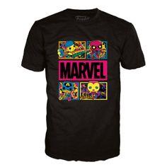 Marvel Blacklight Boxed Funko Pop! Tee - Large