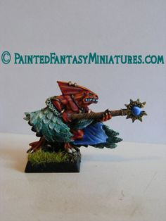 Featured Lizardmen Miniature From Painted Fantasy Miniatures