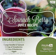 Spinach Berry Juice Recipe