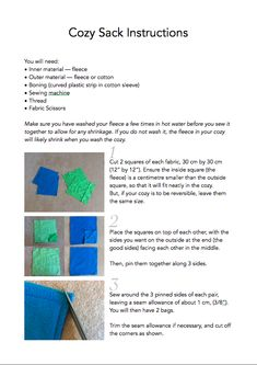 How+to+make+a+cozy+sack+with+boning