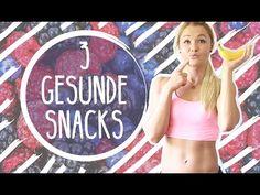 3 einfache und gesunde Snacks - die perfekte Alternative zu Chips und Schoki - Sophia Thiel - YouTube