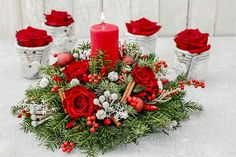 Happy holidays, everyone! Remember to stop by Cremer florist early if you're looking for holiday decorations, centerpieces, and floral arrangements! Christmas Flower Arrangements, Christmas Flowers, Floral Arrangements, Christmas Wreaths, Christmas Gifts, Christmas Decorations, Table Decorations, Holiday Decor, Diy Centerpieces