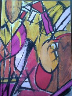 Cubismo. Guache sob papel. Dimensão: A3 p.v.p. 75€