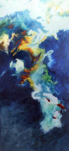 Couleur Lacustre 2003, Acryl auf Leinwand/Holz, 175 x 81 cm