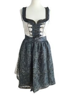 Mini Dirndl weiß mit Perlen Schürze grau Größe 36 Formal Dresses, Mini, Black, Fashion, Pearls, Grey, Dresses For Formal, Moda, Formal Gowns