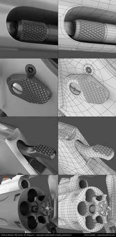 Like the other pinned topology picture, this quality of detail in a hard surface is what I strive for. 3ds Max, Maya Modeling, Modeling Tips, Zbrush Tutorial, 3d Tutorial, 3d Model Character, Character Modeling, Character Design, Blender 3d