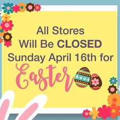 We will be closed tomorrow for Easter. You can still shop online at afw.com. Have a safe and happy holiday!