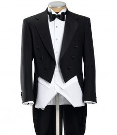 Victorian style mens tailcoat. The modern version of a Victorian tuxedo.