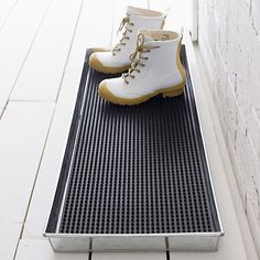 Galvanized Metal Boot Tray with Insert, Crate and Barrel
