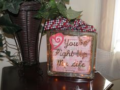 Valentine Glass Block