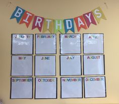 Birthday Board For Classroom