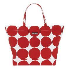 polka dots, shopping bags, opaali red, white bag, gym bags