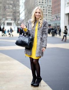 Stand out during the winter by wearing a bright dress.... I don't really have a winter in SD but will do!