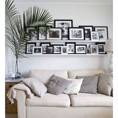 Never have to worry about hanging a picture straight or patching a hole when you want to change a picture! These gallery shelves are wonderful!