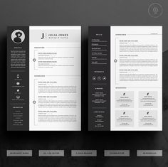 Professional Resume Template & Cover Letter Icon Set for image 1 Template Cv, Cover Letter Template, Letter Templates, Resume Templates, Microsoft Word, Cv Design, Resume Design, Icon Set, Mise En Page Portfolio