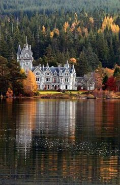 At the Adverikie Castle, Loch Laggan, Scotland.