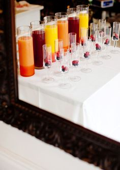 Bellini bar. Perfect for a girls brunch