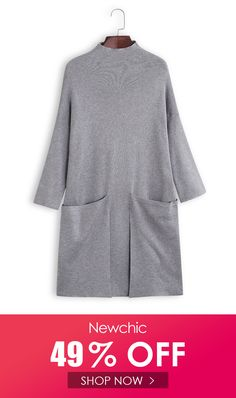 I found this amazing Turtleneck Solid Color Long Sleeve Casual Dress With Big Pockets with US$43.42,and 14 days return or refund guarantee protect to us. --Newchic #Womensdresses #womendresses #womenapparel #womensclothing #womensclothes #fashion #bigdiscount #shopnow Women's Dresses, Casual Dresses, My Size, Turtleneck, Shop Now, Gray Color, Pockets, Clothes For Women, Sweatshirts