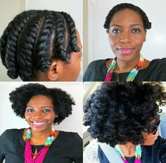 Natural Hair Glory. Flat twist out