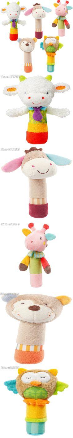 6cb547e4dc78 Newborn Babys Plush Rattles Kids Soft Animal Model Handbells Baby Soft Toys  Developmental Stuffed Rattle baby