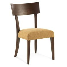 Saloom Furniture South End Side Chair Finish: Burnt Oak, Upholstery: Linen