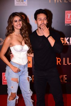 Hand In Hand & Smitten In Love, Disha Patani and Tiger Shroff Grab Eyeballs At Bharat Special Screening - HungryBoo Indian Bollywood Actress, Beautiful Bollywood Actress, Beautiful Indian Actress, Bollywood Fashion, Beautiful Actresses, Indian Actresses, Bollywood Couples, Bollywood Stars, Bollywood Celebrities