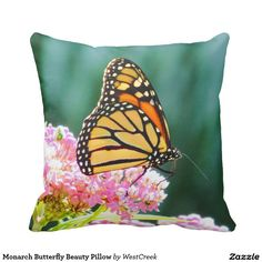 Monarch Butterfly Beauty Pillow