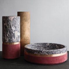We love these amazing pieces by Michael Verheyden in Studio Oliver Gustav #vase #bowl #bronze #suede #marble #michaelverheyden #studioolivergustav #christmaswish #wish