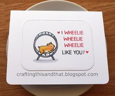 valentine's day card // funny card for friend // love card // friendship card // pun card // guinea pig card // animal card