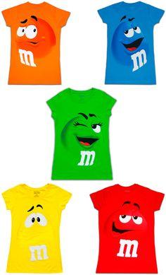 e05201c6d64 M amp M M amp M s Chocolate Candy Character Face Juniors T-Shirt M