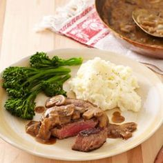 Seared Steak with Mustard-Mushroom Sauce Recipe