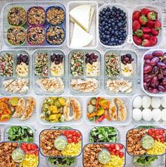 Meal Prep - Week of April 2018 - Peanut Butter and Fitness Meal Prep Plans, Food Prep, Ground Turkey Tacos, 2000 Calorie Diet, 2000 Calories, Baking Cups, Cherry Tomatoes, Healthy Eating, Healthy Lunches