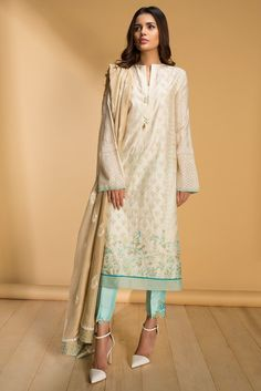 Cotton Net Embroidered Shirt