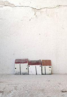 SALE Ceramic houses Christmas gift clayhouse por VesnaGusmanArt