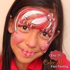 25 Days of Christmas. Candy Cane Face Painting - Color Me Face Painting