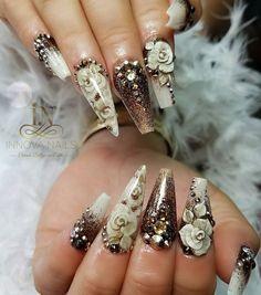 Bellas #innova #innovanails #creatingbeautywithstyle #nailart #nailsforyou #nailporn #nailsbyme #nailsbyinstagram #nailsbyinnova #longnails #3droses #swarovskifornails #acrylicnailsforinstagram #acrylicnails #stilettonails