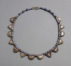 Silver telsum amulets ethnic necklace, Oromo, Ethiopia | ethnicadornment