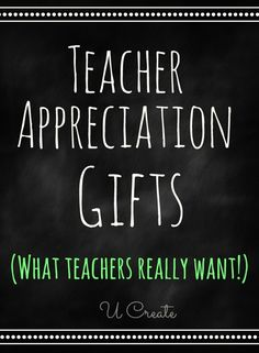 """Teacher Appreciation Gifts that teachers REALLY want! Teachers share their favorite gifts! I absolutely LOVE seeing all of the appreciation gifts out there because they sure deserve them! It's the least we can do right? It's also such a great way to teach our children to say """"thank you""""."""
