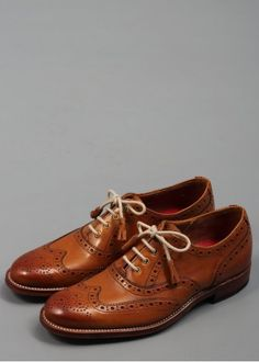 Grenson Martha Leather Brogue Shoes Tan | Triads. MY NEXT PAIR OF OXFORDS FOR SURE