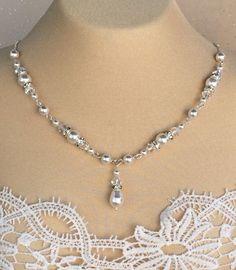 Swarovski Crystal and Pearl Rhinestone by HisJewelsCreations