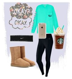 """""""Basic white girl """" by jesca27 on Polyvore featuring NIKE, Victoria's Secret, UGG Australia and Speck"""
