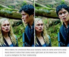 [gifset] #Bellarke. Yeah bell are, so Clarke stop being sexually confused and Bellamy stop listening to frikin Pike!!