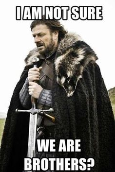 are we brothers meme April Fools Memes, Best April Fools, Brother Memes, Attitude, Quotes Arabic, General Conference Quotes, Sean Bean, Brace Yourself, Funny Memes